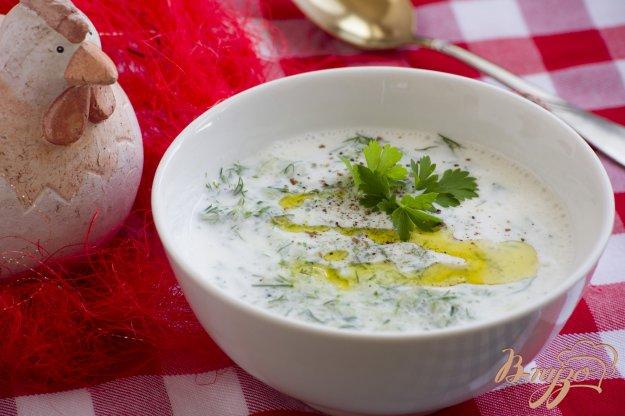 фото рецепта: Холодный кефирный суп