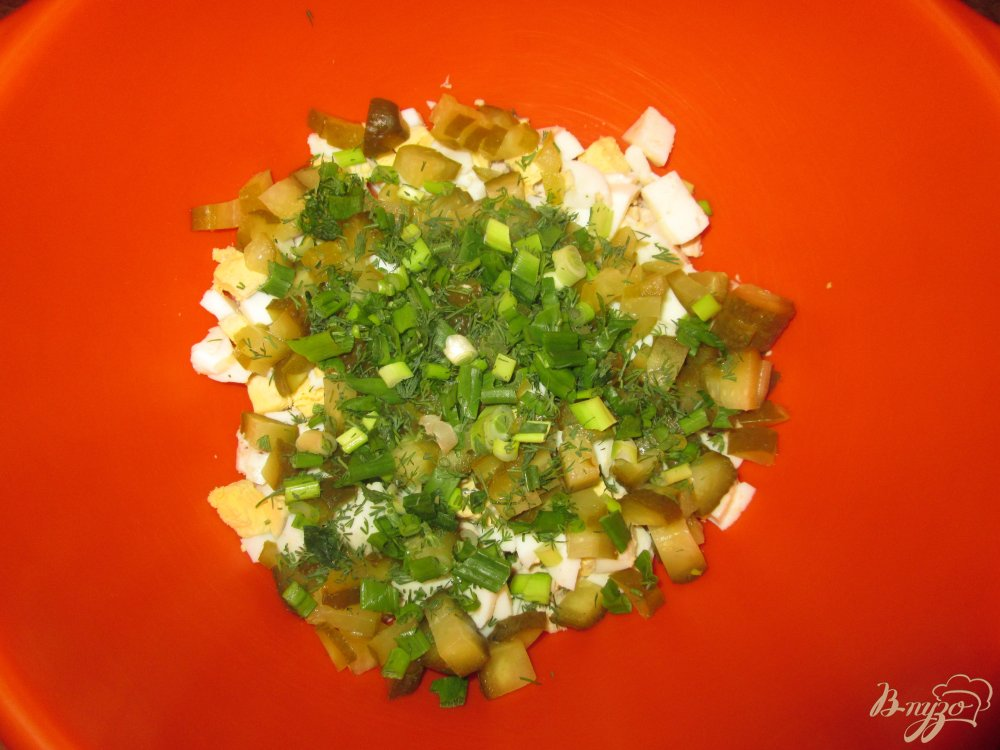 Фото приготовление рецепта: Салат с куриной грудкой шаг №4