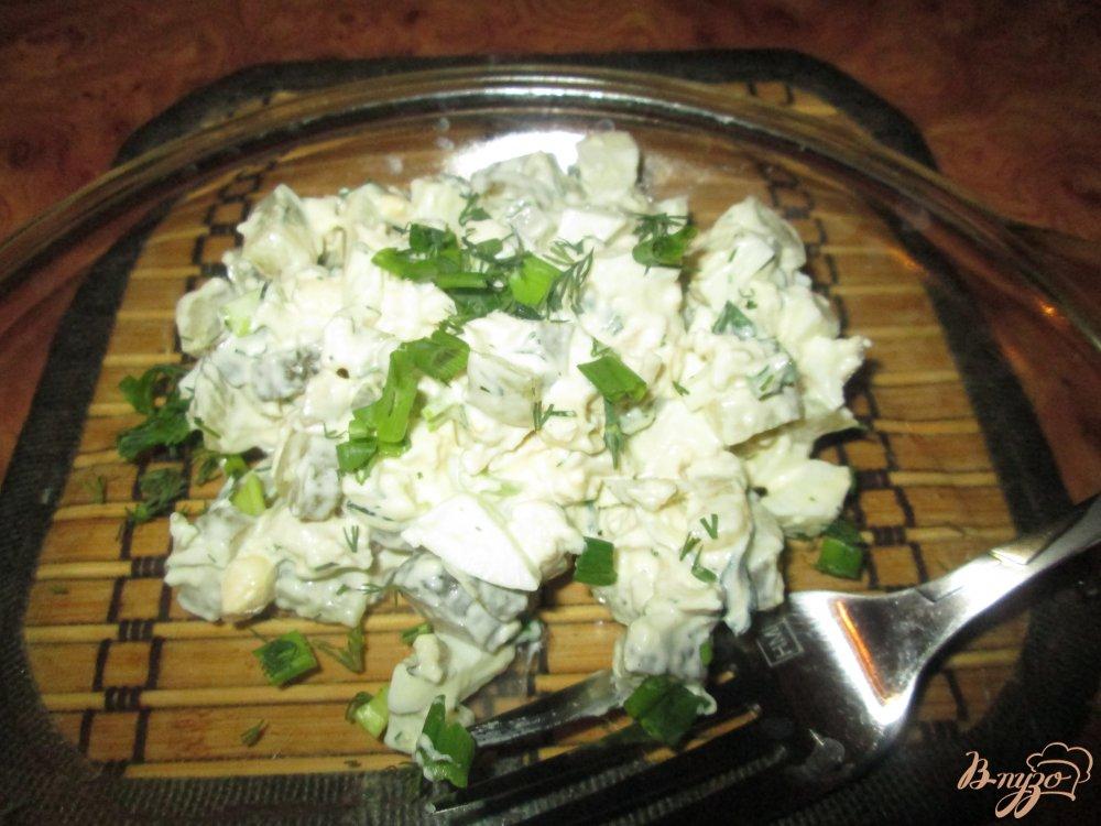 Фото приготовление рецепта: Салат с куриной грудкой шаг №7