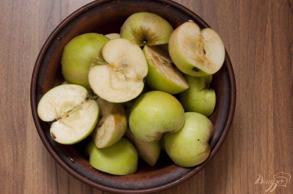 Фото приготовление рецепта: Яблочный компот на зиму шаг №2