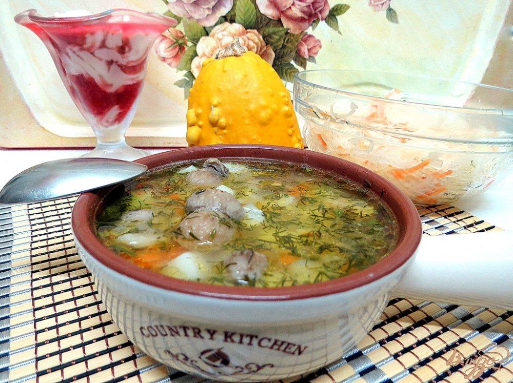 Фото приготовление рецепта: Суп с белыми грибами шаг №7