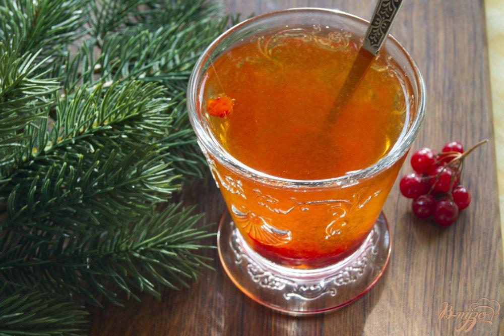 Фото приготовление рецепта: Чай с калиной шаг №4