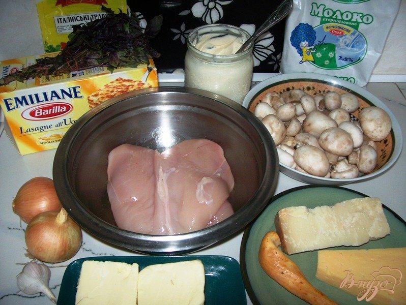 Фото приготовление рецепта: Лазанья с курицей и грибами шаг №1