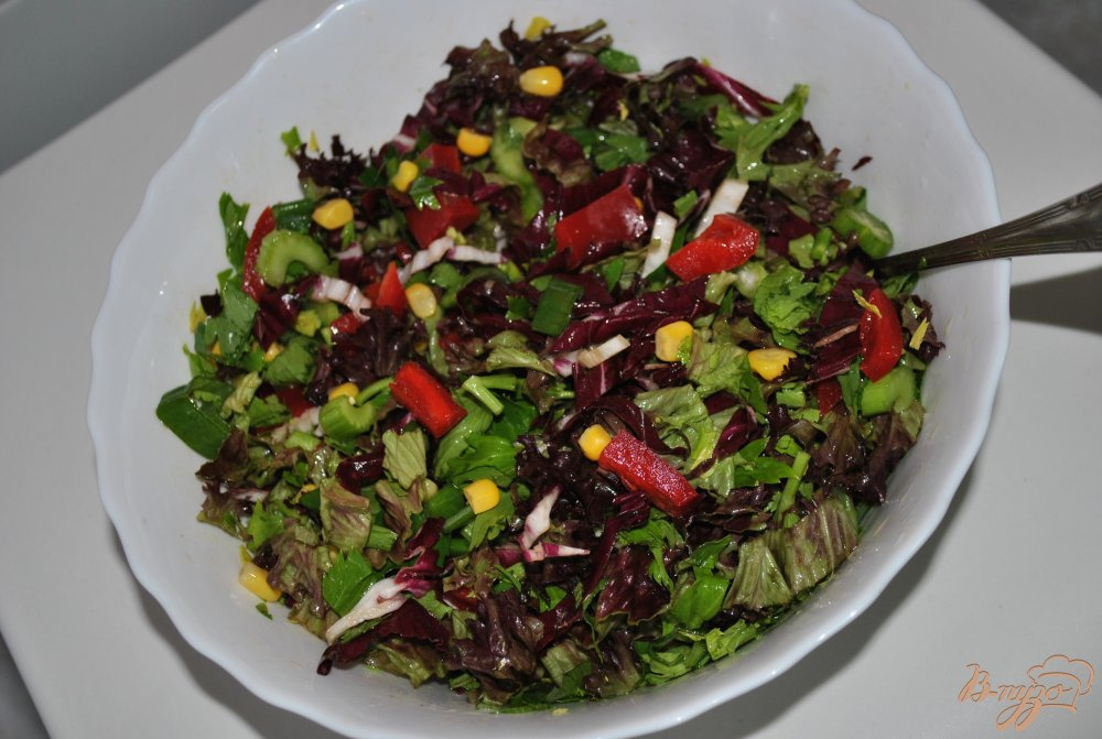 Фото приготовление рецепта: Салат с красной капустой шаг №7