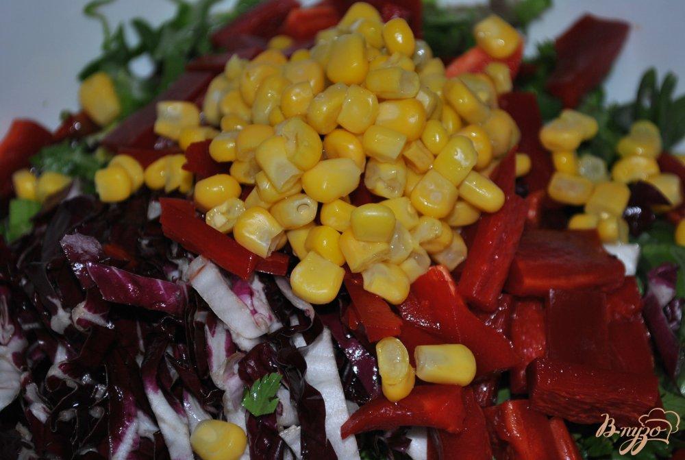 Фото приготовление рецепта: Салат с красной капустой шаг №6