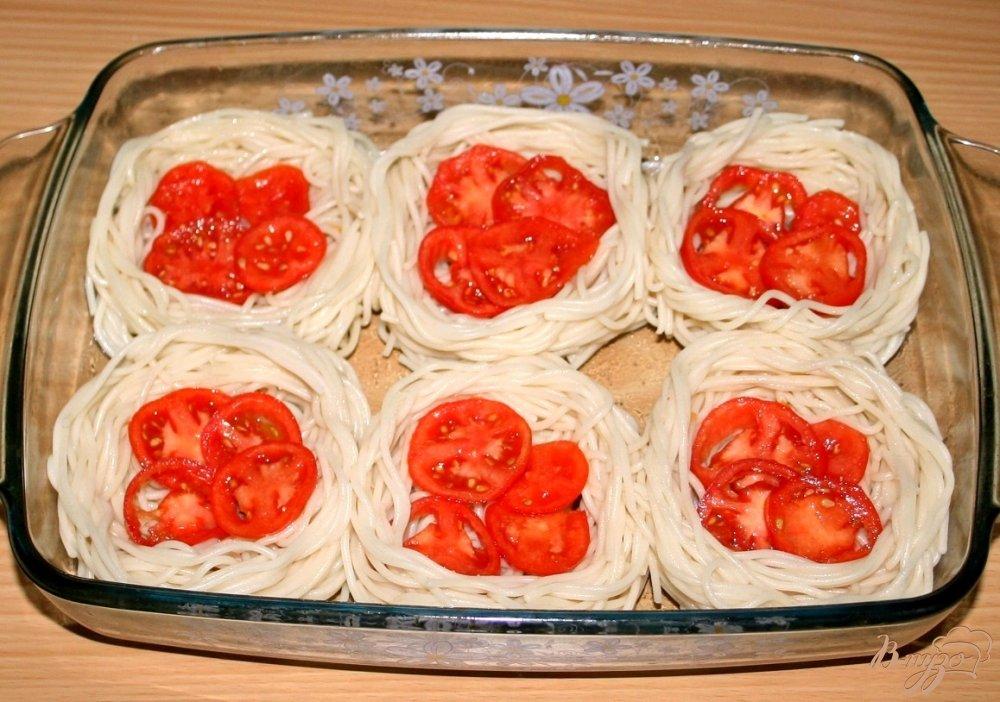 Гнезда из макарон с курицей в духовке рецепт пошагово 187