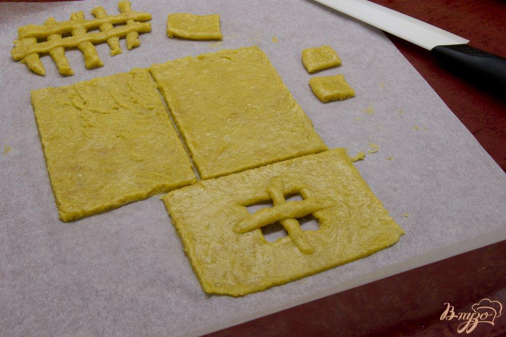 Фото приготовление рецепта: Пряничный домик шаг №7
