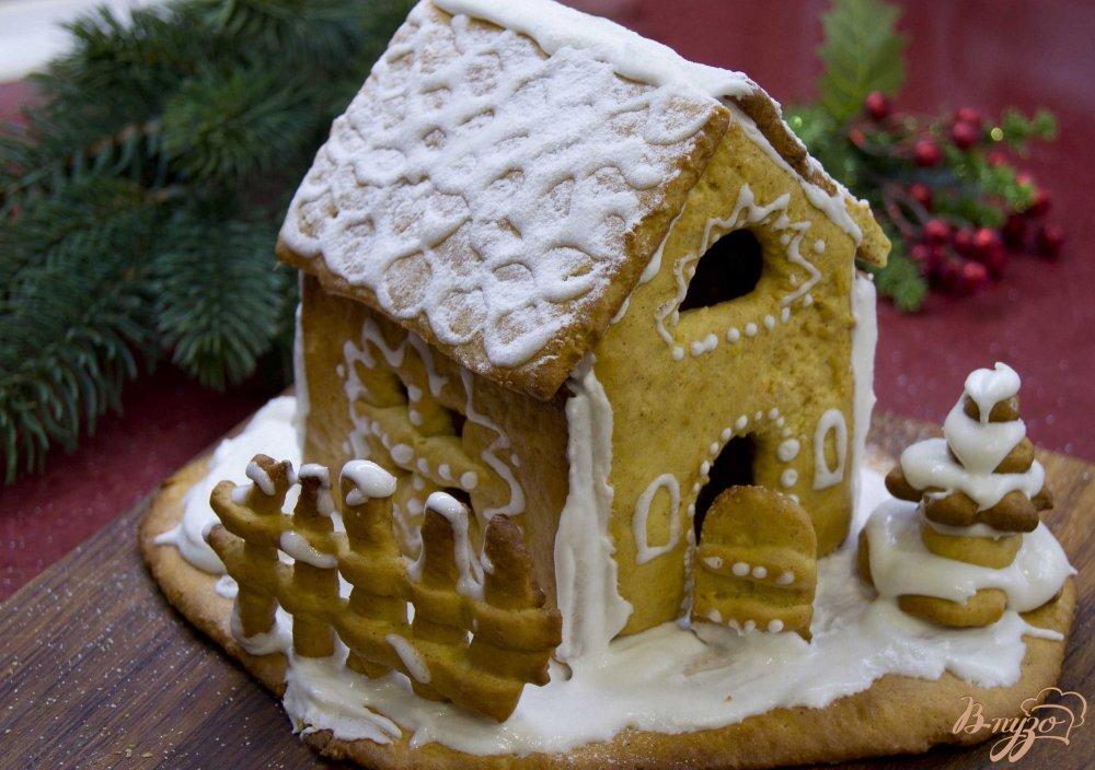 Фото приготовление рецепта: Пряничный домик шаг №11