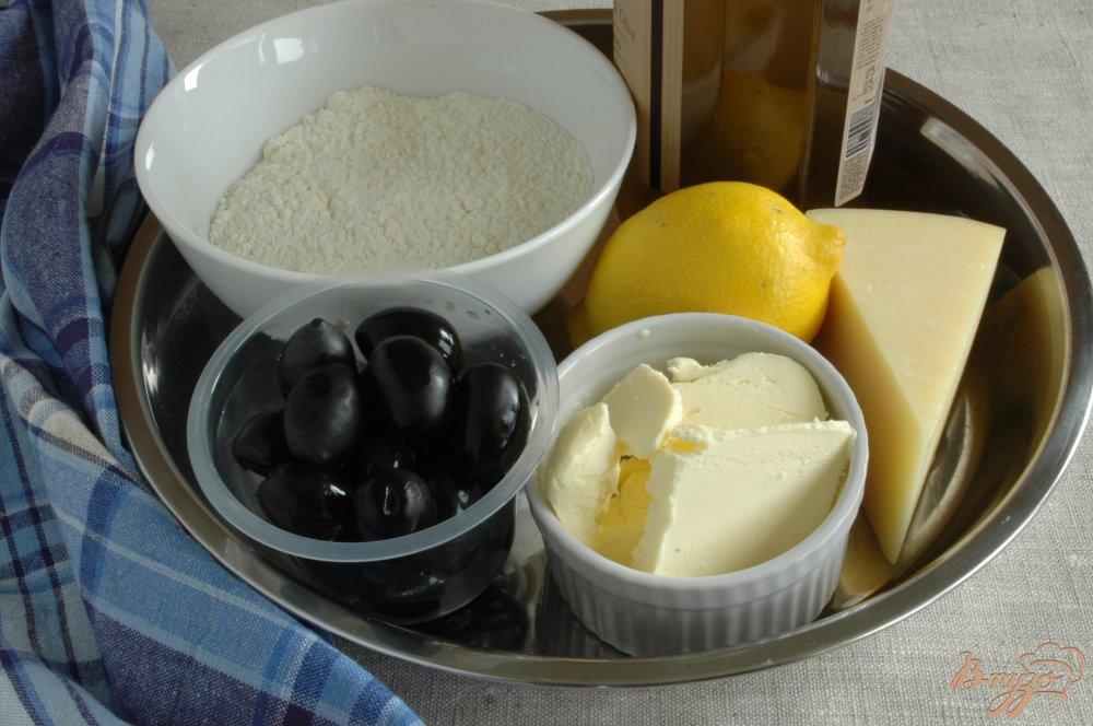 Фото приготовление рецепта: Сырное печенье с маслинами и лимоном шаг №1