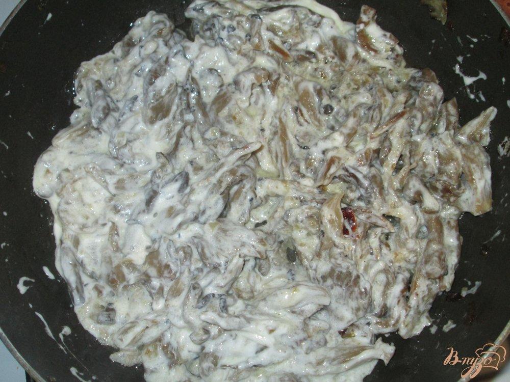 Фото приготовление рецепта: Куриная печень с грибным соусом шаг №2