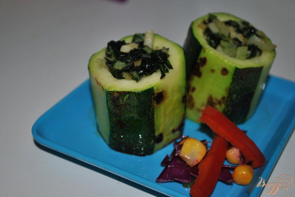 Фото приготовление рецепта: Гарнир из цукини шаг №8