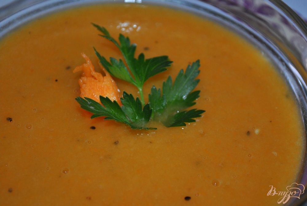 Фото приготовление рецепта: Сладкий крем-суп из тыквы шаг №6