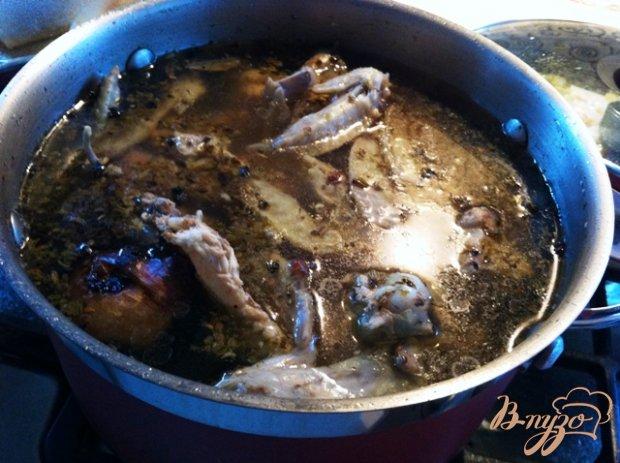 Куриный бульон с гренками