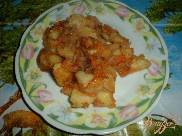Жареный картофель с аджикой