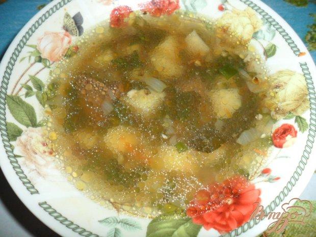 Суп с гусиной печенью