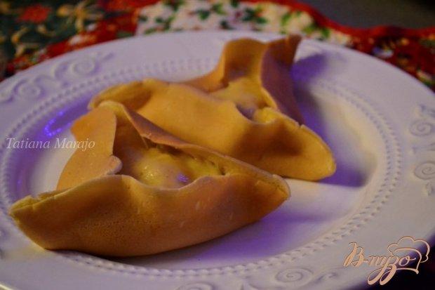 Блинчики с гусиным паштетом и картофельным пюре