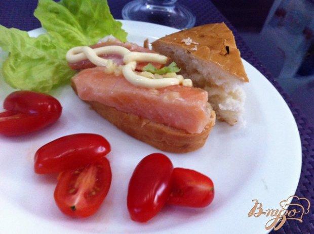 Слабосоленый лосось с имбирем