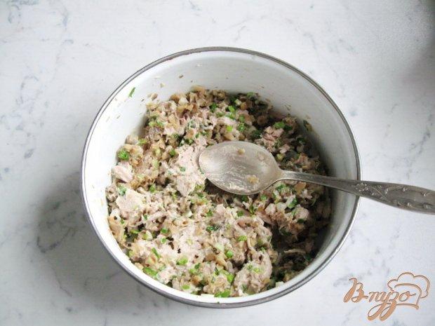 Блинчики с мясом, грибами и зеленым луком