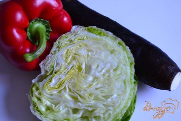 Салат с черной редькой