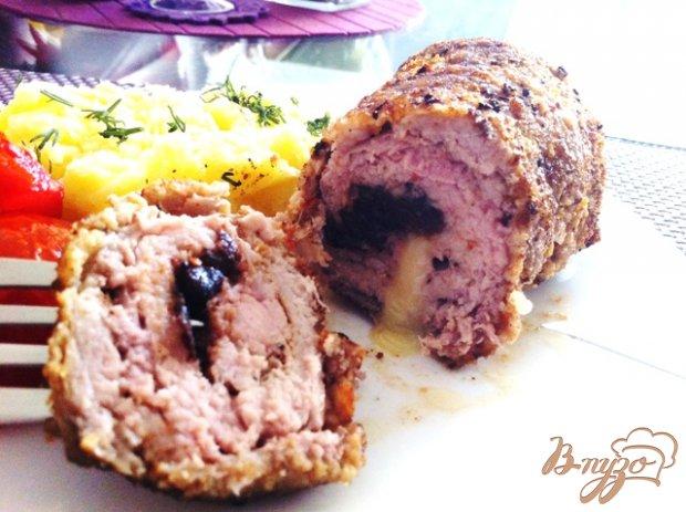 Конвертики из свинины с начинкой.