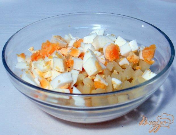 Салат из сельди яиц и картофеля