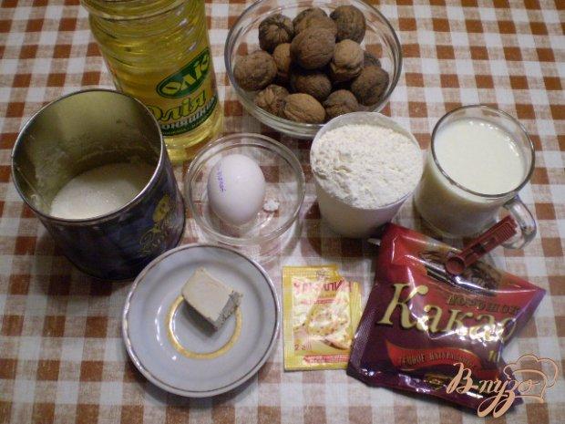 Булочки с орехами и какао