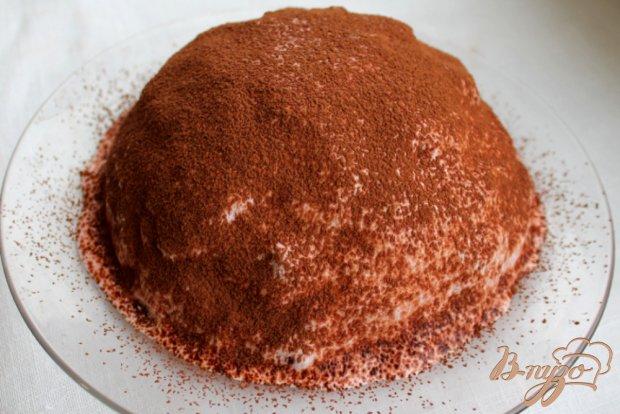 Шоколадный торт со сметано-малиновым кремом