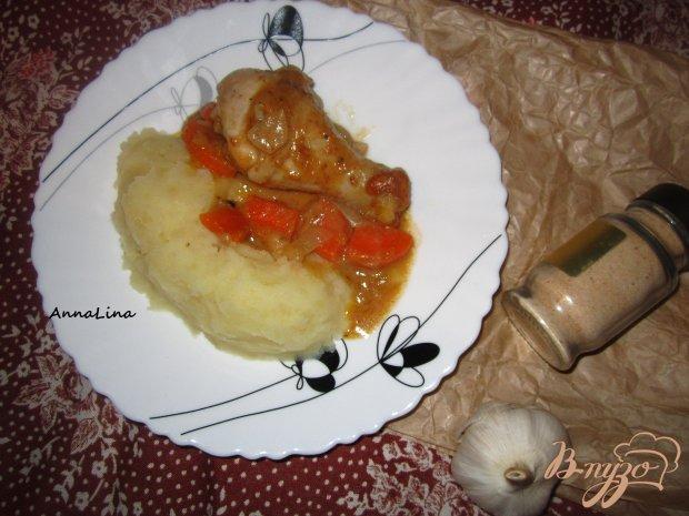Куриные голени с арахисовым соусом