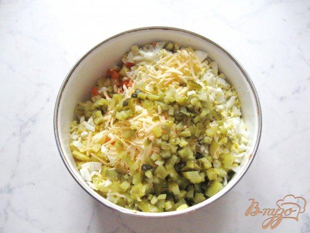 Салат из отварной индейки с сыром