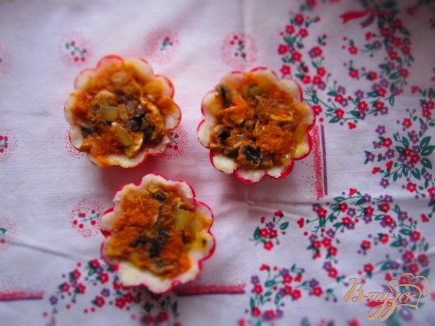 Порционная картофельная запеканка с грибами в духовке