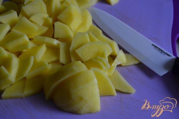 Жареный картофель с вяленым мясом