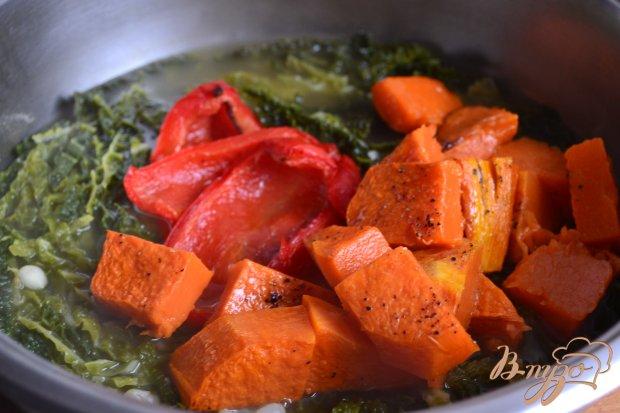 Овощной суп с печеной тыквой