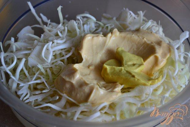 Капустный салат с ветчиной