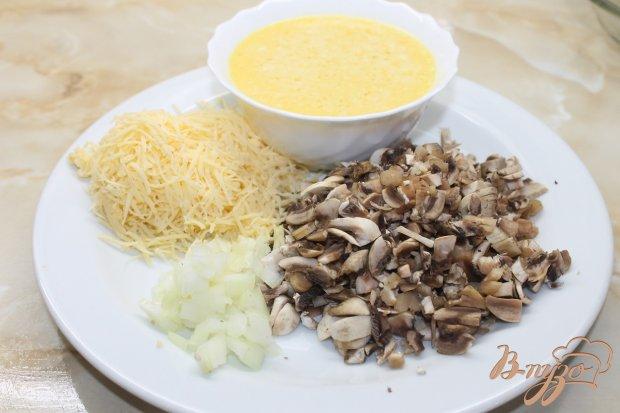 Блинчики с грибами под сырным соусом