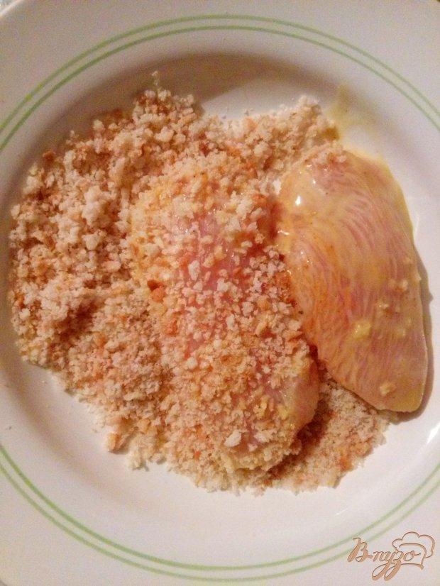 Куриное филе в медово-горчичном соусе в панировке