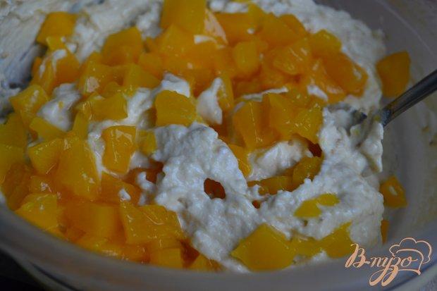Сырники-оладьи  с кусочками персика