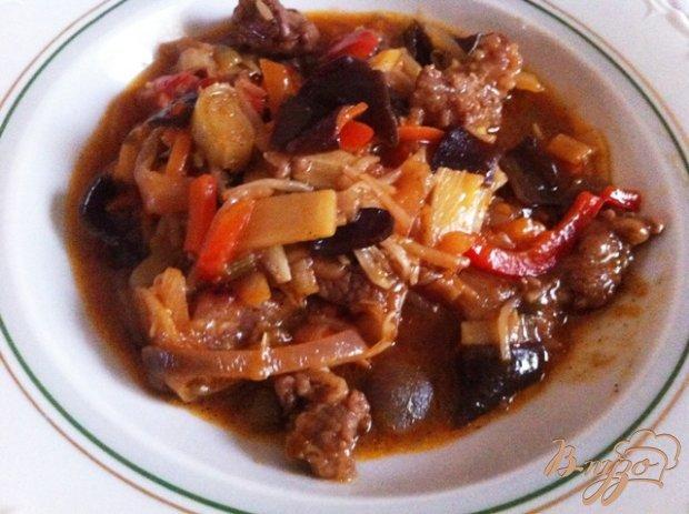 Говядина с китайской овощной смесью