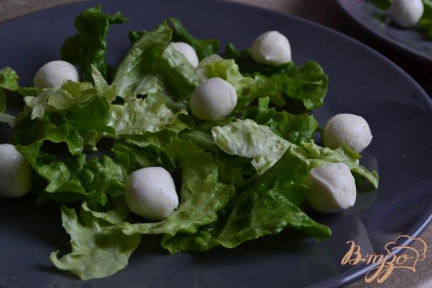 Салат с тыквой , моцареллой и виноградом