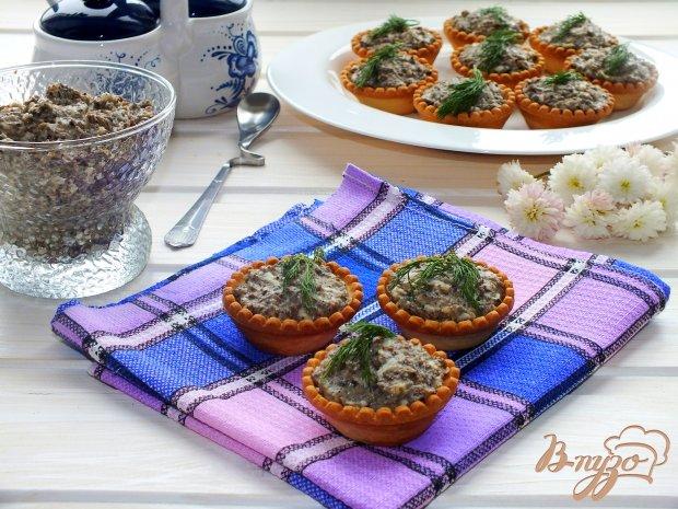 Тарталетки с грибным паштетом