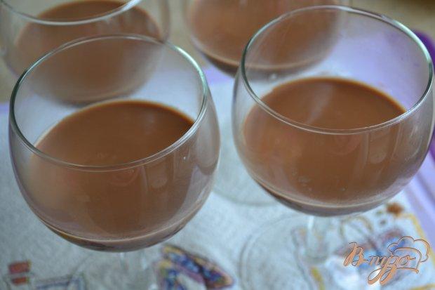 Шоколадно-малиновая панна котта