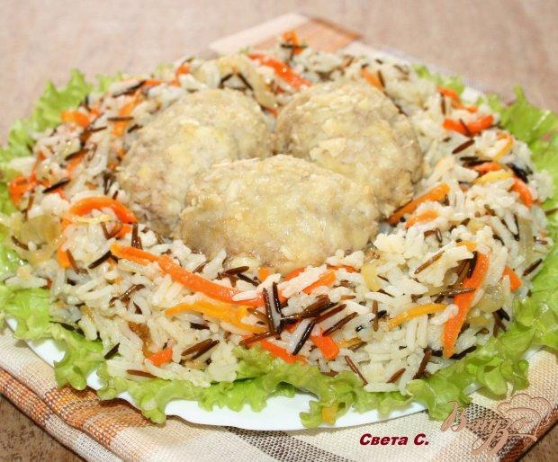 """Мини-зразы с сырной начинкой с рисом и овощами """"Птичье гнездо"""""""