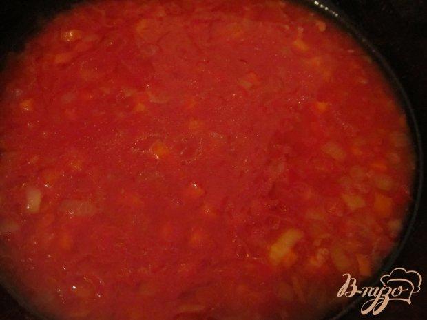 Томатный суп с горошком