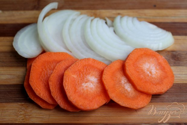 Мясо с овощами и яблоками «Гармошка»