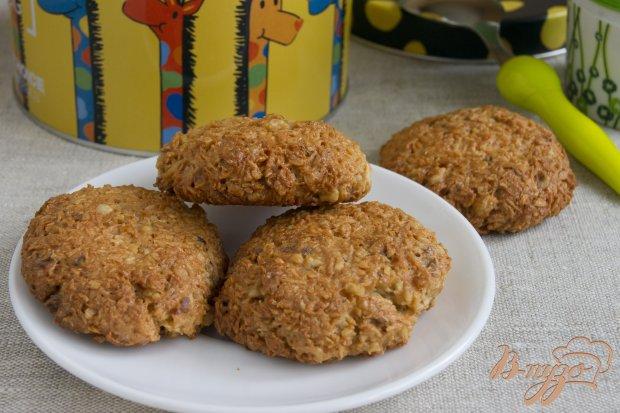 Кокосовое печенье с грецкими орехами