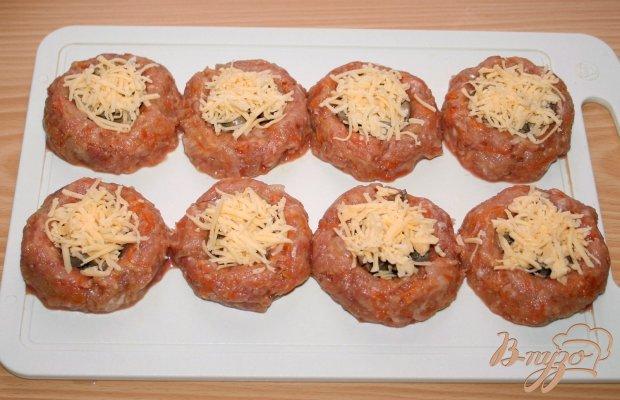 Мясные гнездышки с грибами и сыром с пшеном на гарнир