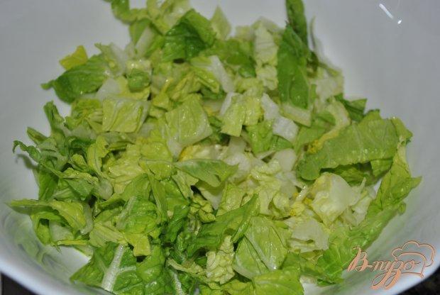 Свежий салат с кориандром и имбирем