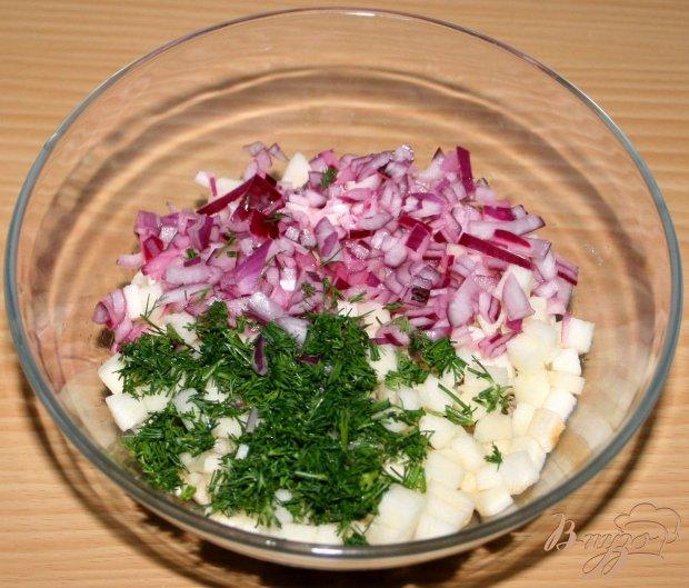 Волованы с мясным салатом
