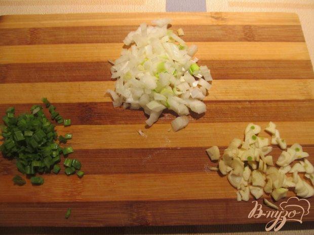 Рис с мидиями и зеленым горошком