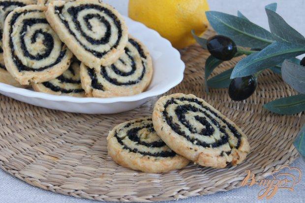 Сырное печенье с маслинами и лимоном