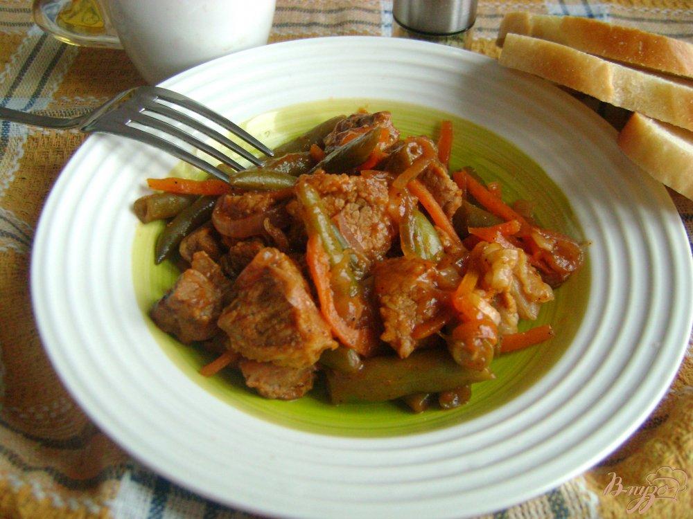 мясо с стручковой фасолью рецепт в мультиварке